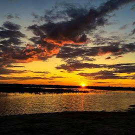 Jones Beach, NY - Sunset by Christie Brown - Landscapes Sunsets & Sunrises