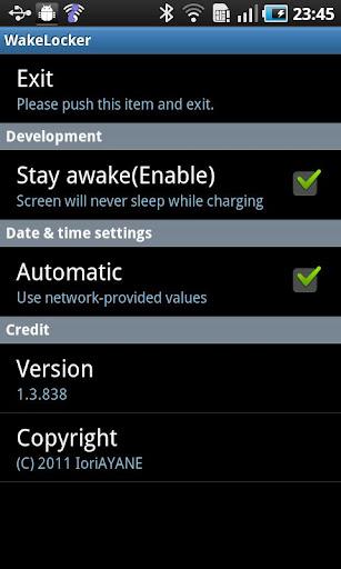 WakeLocker for Galaxy S