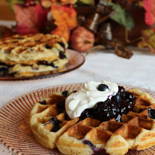 Healthy Blueberry Waffle Recipes