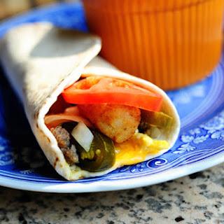 Breakfast Sausage Egg Jalapeno Burrito Recipes