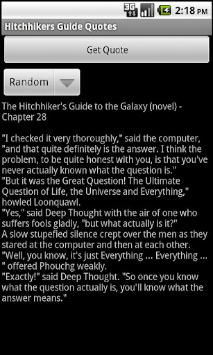Hitchhikers Guide Quotes