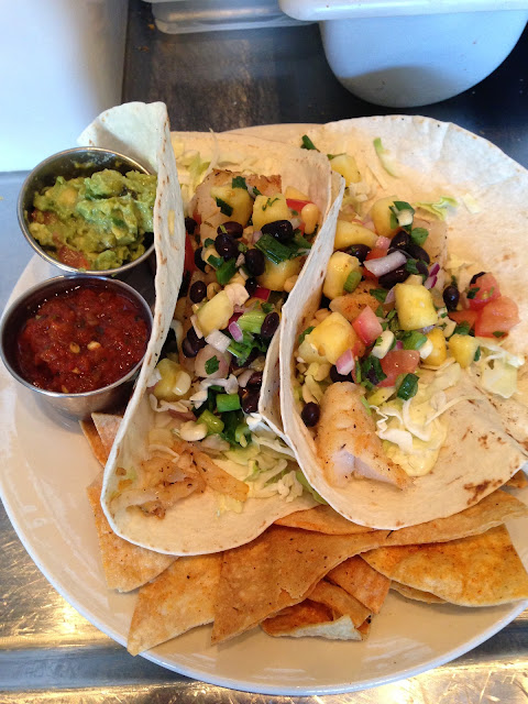 Gluten Free options for Starky's SoCal Tacos with options of fish, chicken, pulled pork or local car