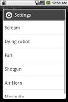 Screenshot of Shake Sound
