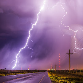 Broadway Bolts by Brandon Green - Landscapes Weather ( lightning, weather, night, storm chasing, storms )