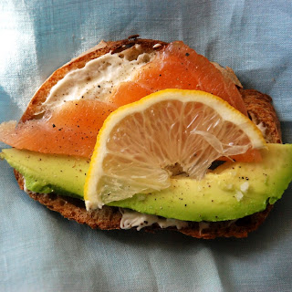 Salmon and Avocado Toasts