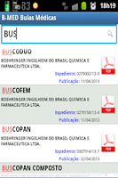 Screenshot of B-MED Bulas Médicas