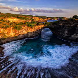 Holy Cave by Nyoman Sundra - Landscapes Caves & Formations ( bali, sunset, caves, beach, landscape,  )