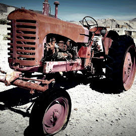 Rustic tractor by Mike Canter - Transportation Other ( desert, beatty, tractor, rustic, farming )