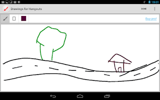 Screenshot of Drawings Camera (Hangouts, FB)