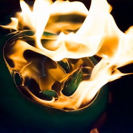 Fire & Ice by Farrah-Diba Sing - Abstract Fire & Fireworks ( ice, fire,  )