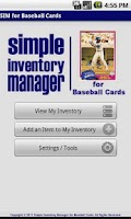 Screenshot of SIM for Baseball Cards