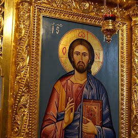 Jesus Pantocrator by Donald Henninger - Novices Only Objects & Still Life ( icon, altar, church, romania, travel, worship, religious,  )