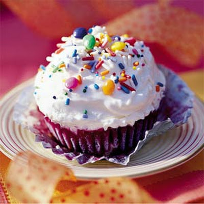 Lemon-Blueberry Ice-cream Cupcakes