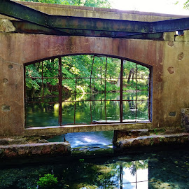 Paradise Springs by Lori Kulik - Buildings & Architecture Other Exteriors ( water, window, waterscape, exterior, architectural detail,  )