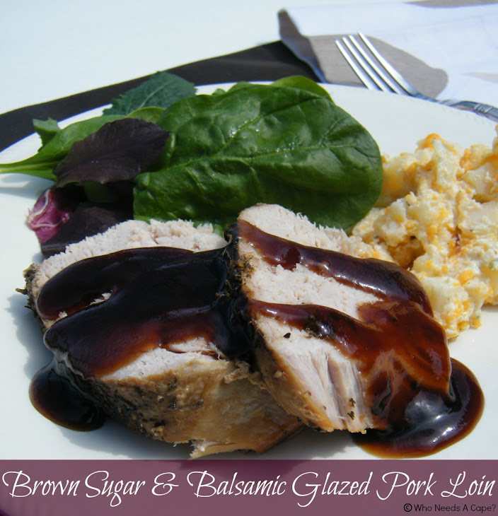 Glazed Pork Loin With Mustard And Brown Sugar Recipe ...