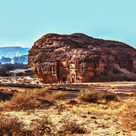 Madain Saleh by Joey Soriano - Landscapes Deserts ( tomb, mountains, desert, rocky mountain, rock formation )