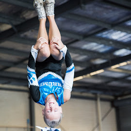 cheerleader backsault by Paul Rutherford - Sports & Fitness Other Sports ( cheerleading, sporting back sault )