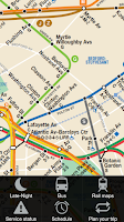 Screenshot of New York Subway & Bus maps