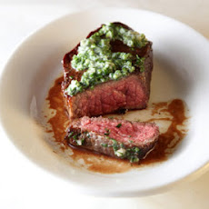 Flat Iron Steak with Herb Butter
