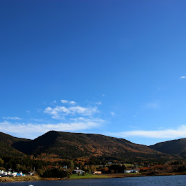 Fall in Bay St. Lawrence, N.S. by Charlotte MD McLellan - Novices Only Landscapes ( mountains, sky, fishing boats, colors, fall, ocean, bay st. lawrence )