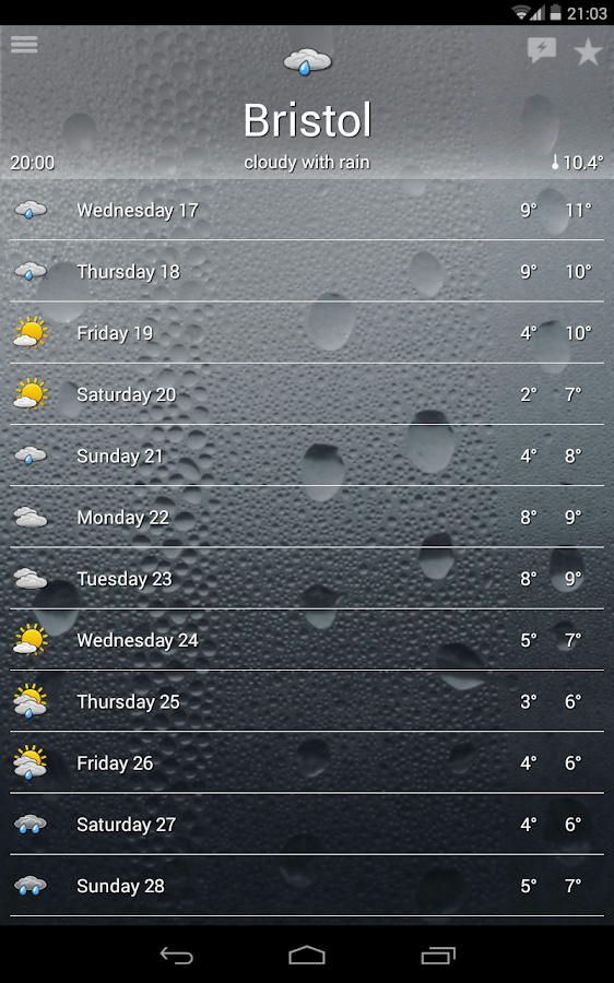 the Weather+ Screenshot 4