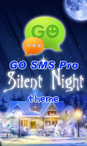 GO SMS Pro Silent Night theme