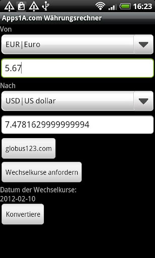 Apps1A Currency Converter