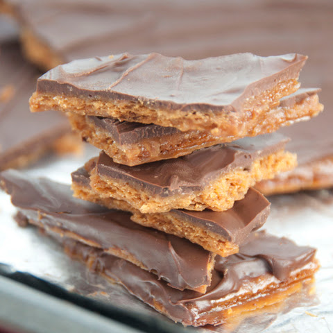 Chocolate Graham Cracker Toffee