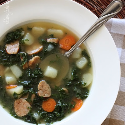 Kale and Potato Soup with Turkey Sausage