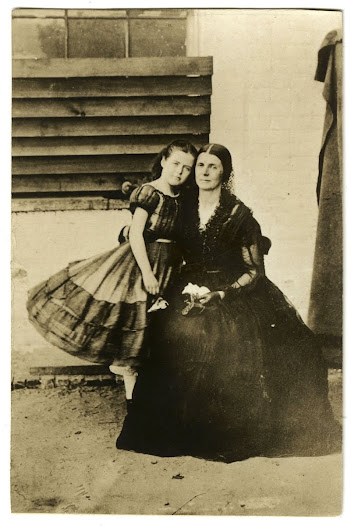 Rose O'Neal Greenhow and daughter at Old Capital Prison, 1862