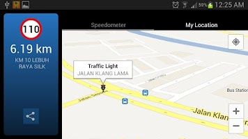 Screenshot of AES Location Detector