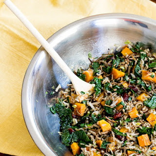 Wild Rice & Butternut Squash Salad with Maple Balsamic Dressing