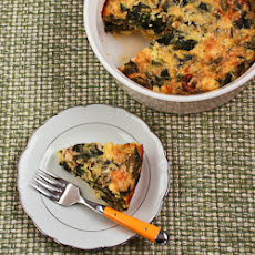 Swiss Chard and Goat Cheese Custard Bake
