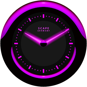Laser Clock Widget A-PURPLE