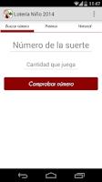 Screenshot of Lotería Niño 2015