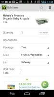 Screenshot of Grocery iQ