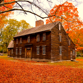 Hartwell Tavern by Carlo Resty Sunga - City,  Street & Park  Historic Districts ( fall, color, colorful, nature,  )