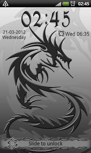 Tribal Dragon GO Locker theme