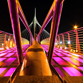 PINK BRIDGE by Myra Silva - Buildings & Architecture Bridges & Suspended Structures