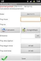 Screenshot of Business Expense Mgr (no-adv)