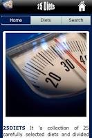 Screenshot of Twenty-Five Diets