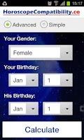 Screenshot of Horoscope Compatibility