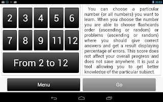 Screenshot of Multiplication Table.
