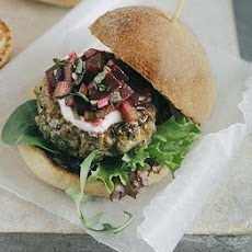 Lamb & Coriander Burgers With Beetroot Relish
