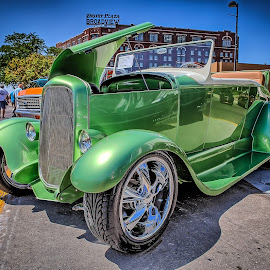 Green Coupe by Ron Meyers - Transportation Automobiles