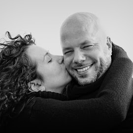 Love Is In the Air by Linda Karlin - People Couples ( b&w, people,  )