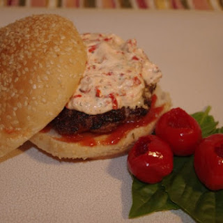 Ginger Garlic Brisket Burgers With Herbed Peppadew Cheese
