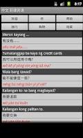 Screenshot of Chinese Tagalog Dictionary