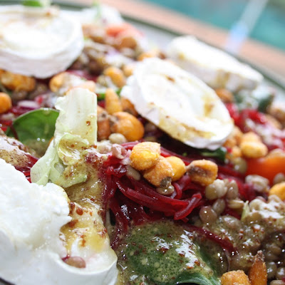Lentil and Goat Cheese Salad