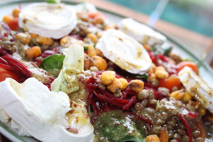 lentil and goat cheese salad from sobre dulce y salado 3